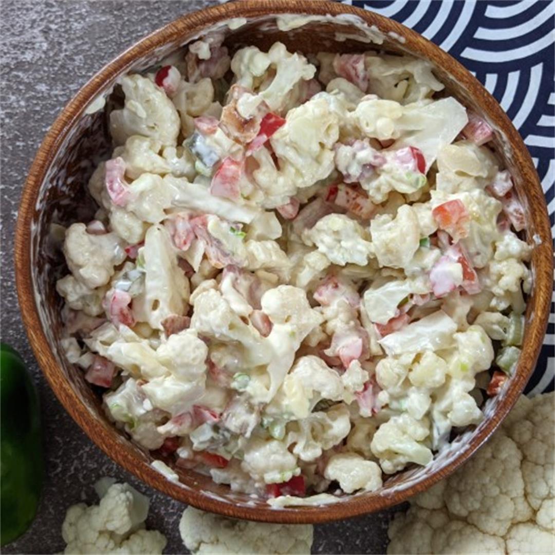 Crunchy Cauliflower & Bacon Salad