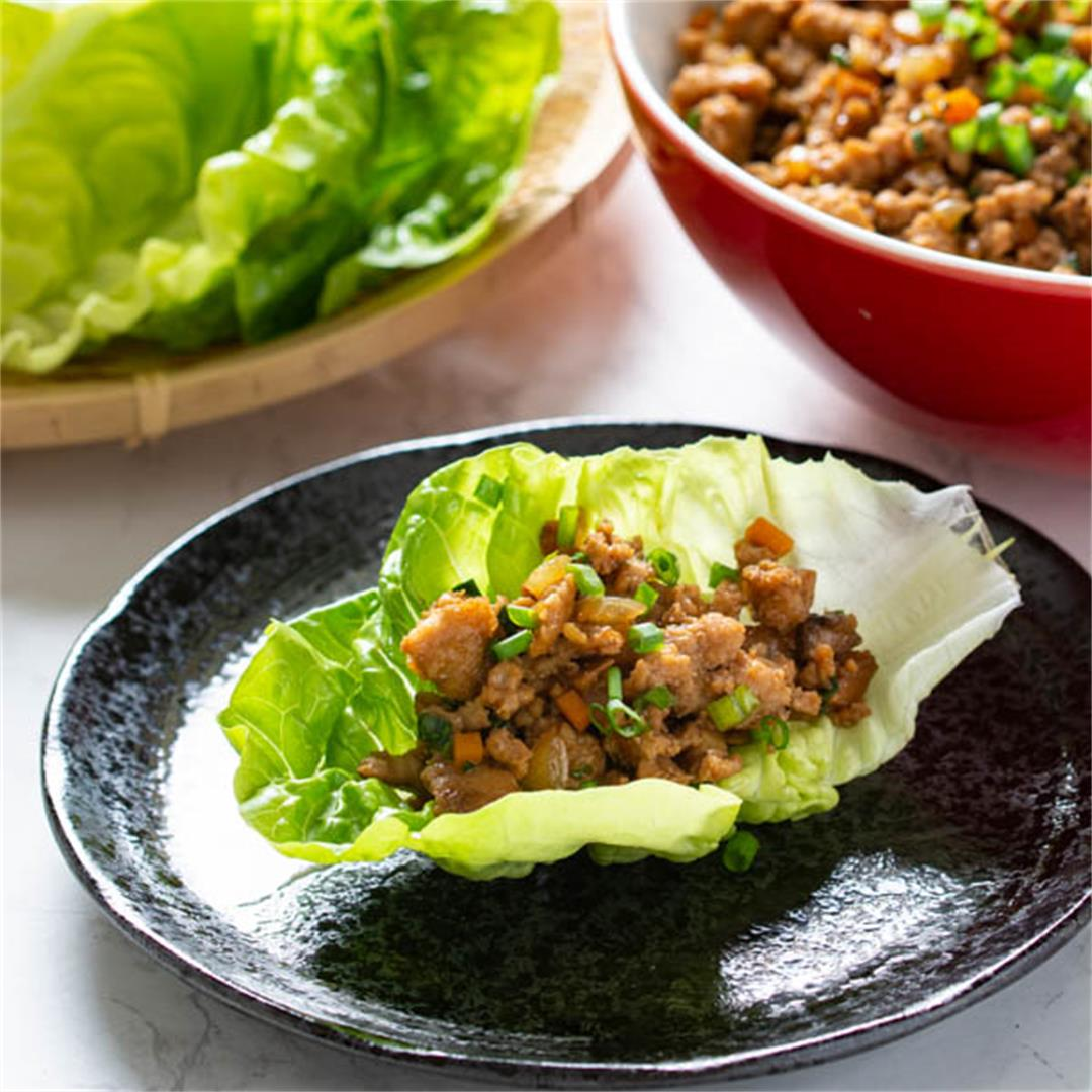 Pork Yuk Sung (Chinese Lettuce Wraps)