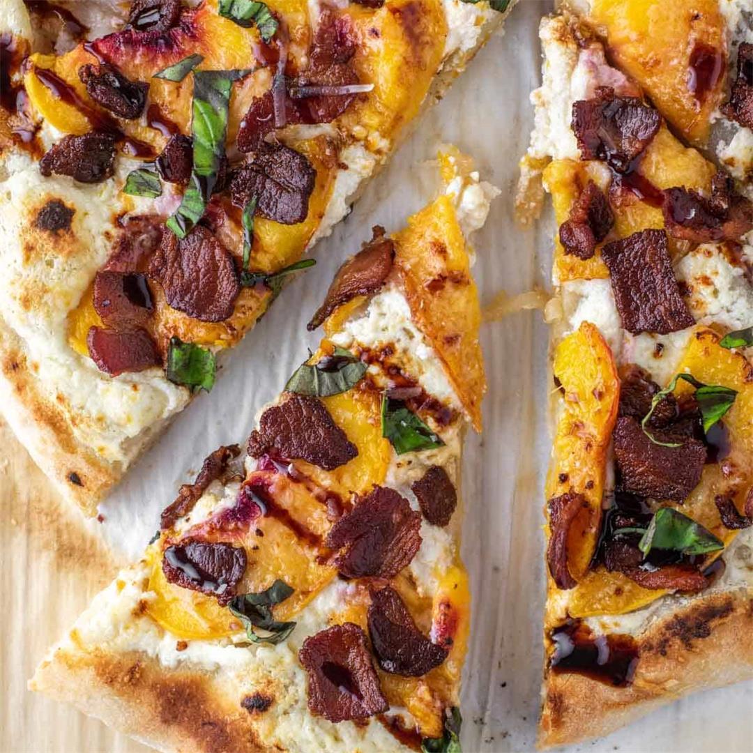 Peach Ricotta Pizza