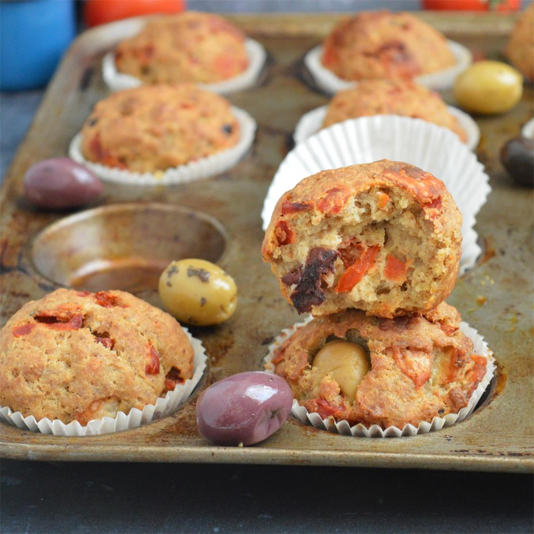 Red Pepper & Olive Oat Muffins — Tasty Food for Busy Mums