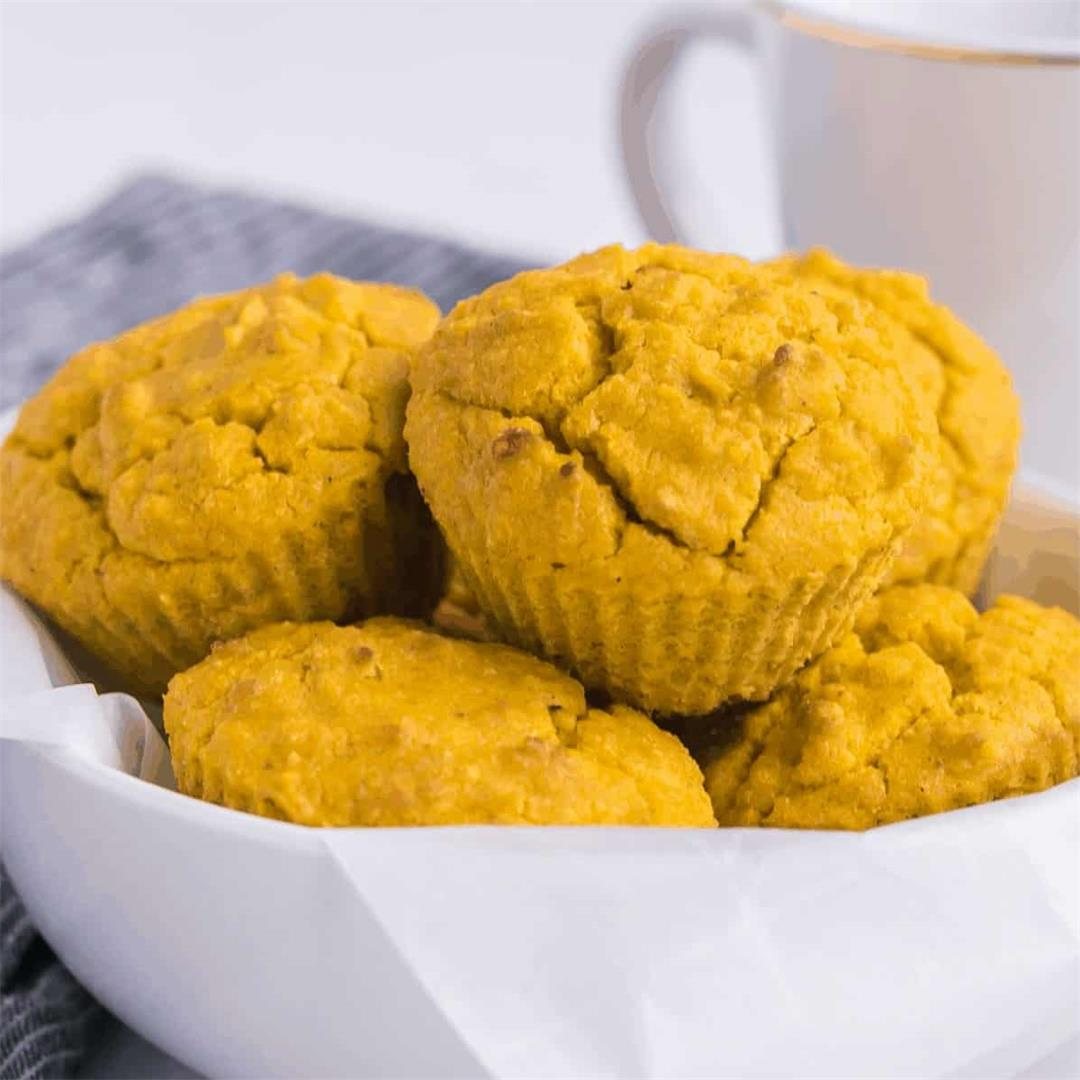 Keto Coconut Flour Turmeric Muffins (4-Ingredients)