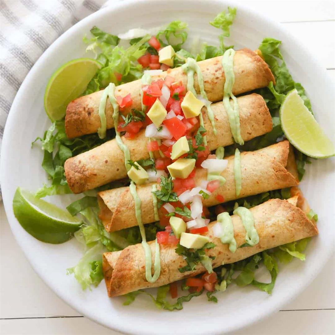 Easy Air Fryer Beef Taquitos