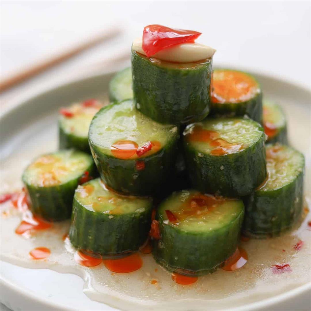 Din Tai Fung Inspired Crunchy Asian Cucumber Salad