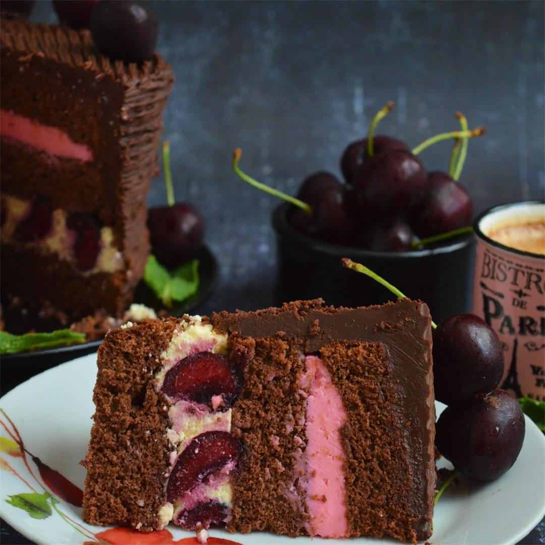 Dark Chocolate Cherry Cake — Tasty Food for Busy Mums