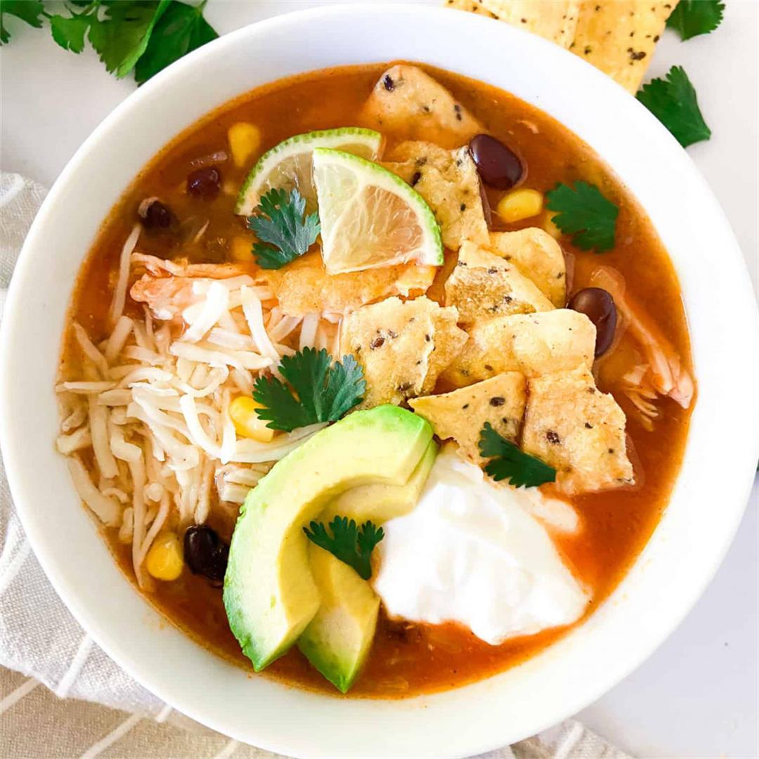 Easy 30-Minute Chicken Tortilla Soup