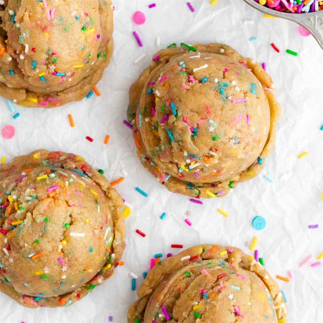 Edible Funfetti Cookie Dough (Vegan)