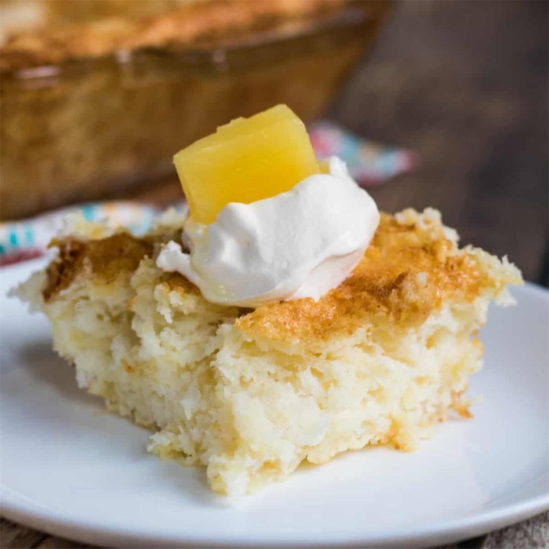 2-Ingredient Pineapple Angel Food Cake