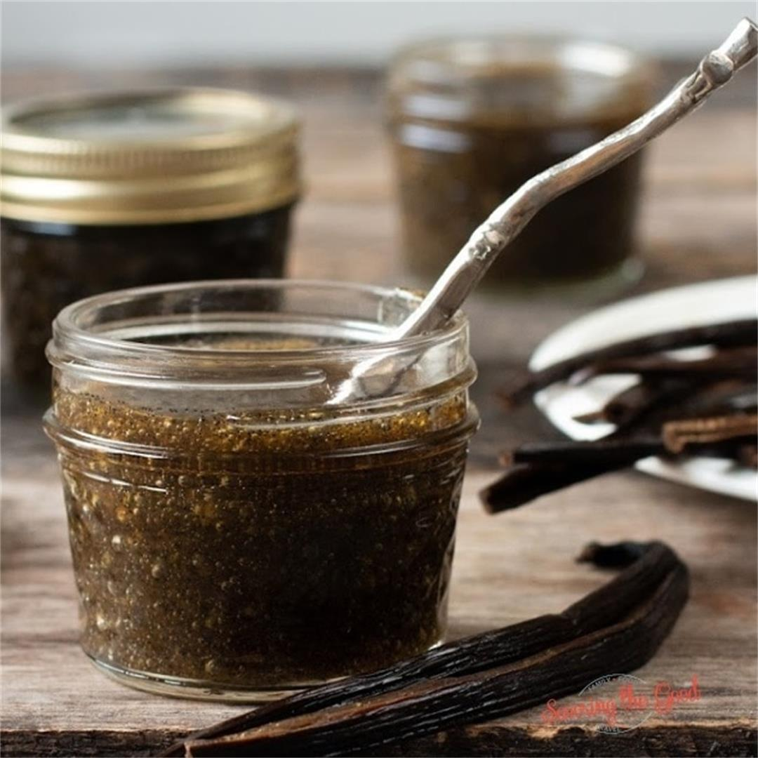 Vanilla Bean Paste. How to make homemade vanilla beans paste.