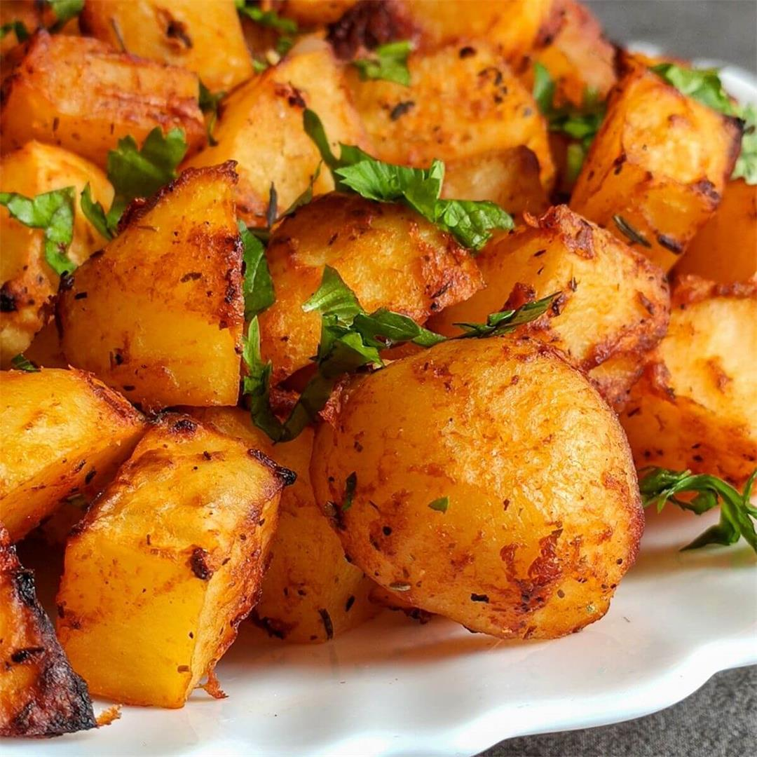 Roasted Spanish potatoes- A quick and easy recipe