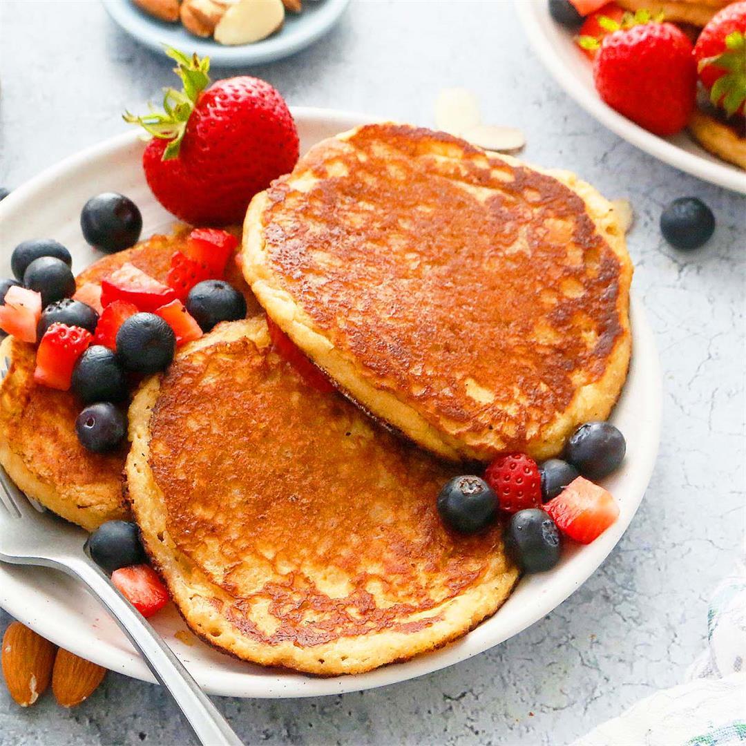 Almond Butter Buttermilk Pancakes