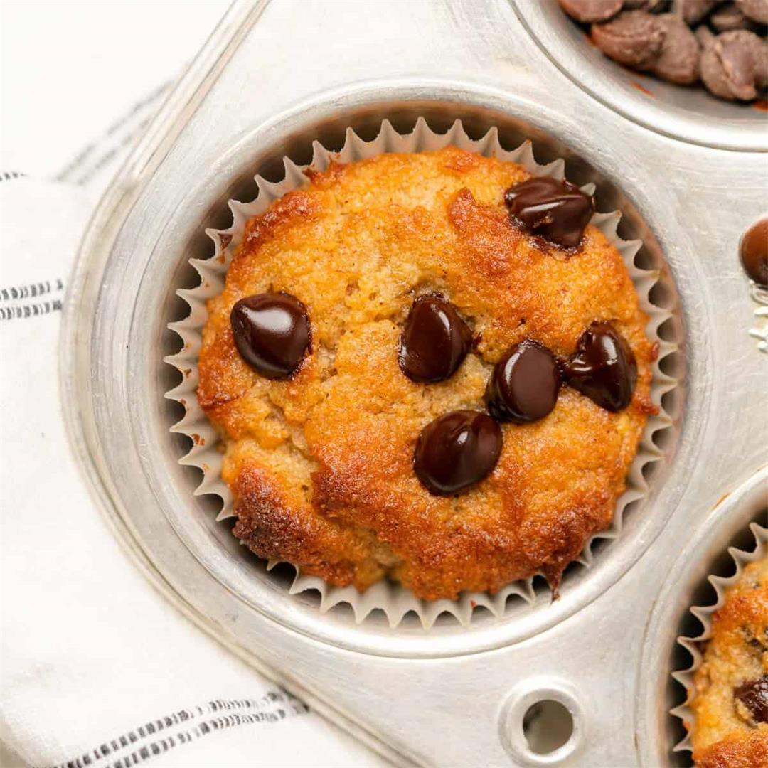 Almond Flour Banana Muffins (Low Carb, Gluten Free)