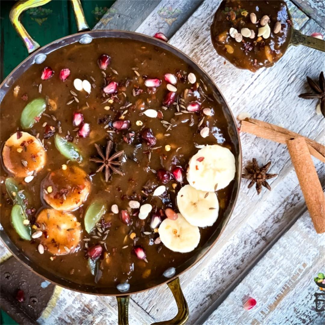 Saunth: Sweet Chutney with Green Mango and Dates