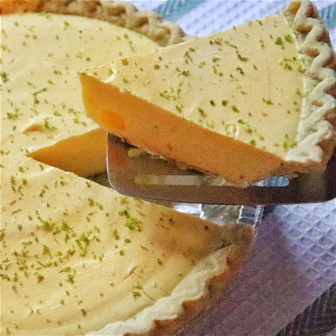 Frozen Mango Lime Pie