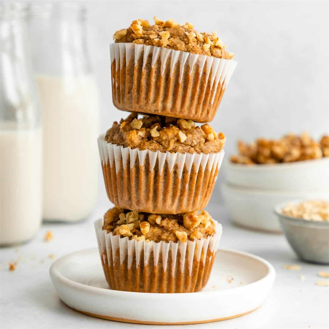 Healthy Banana Nut Muffins (Vegan & Gluten-Free)