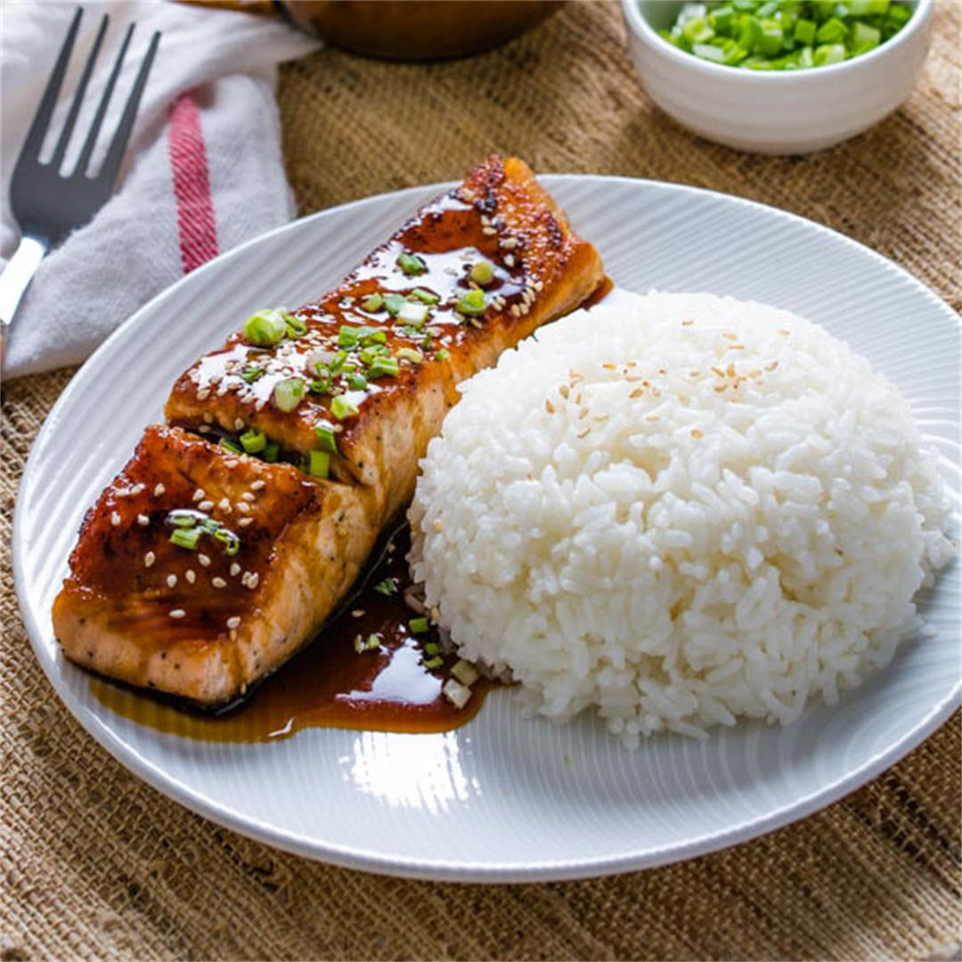 Easy Pan-Fried Teriyaki Salmon