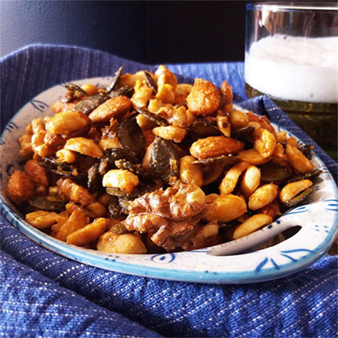 Hot and Spicy Beer Snack Mix