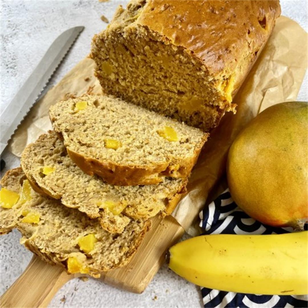 Sugar Free Mango & Banana Bread