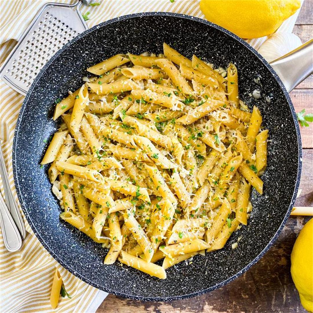 One-Pan Lemon Garlic Pasta | The Easiest One-Pot Pasta Recipe