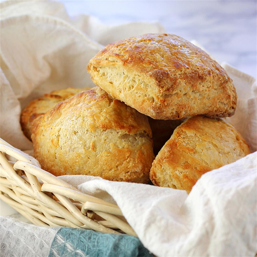Crunchy, flaky, tender biscuits made with 00 flour