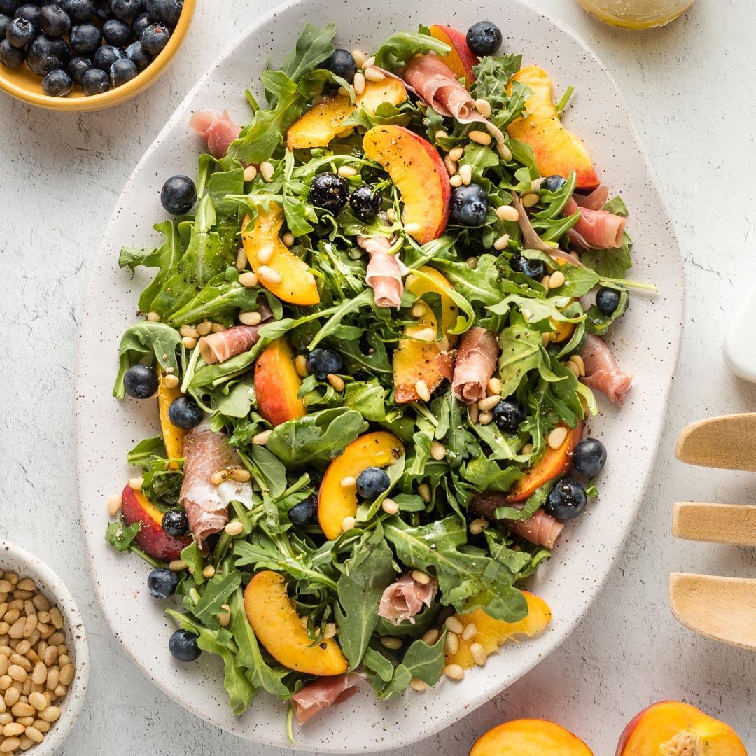 Peach Arugula Salad