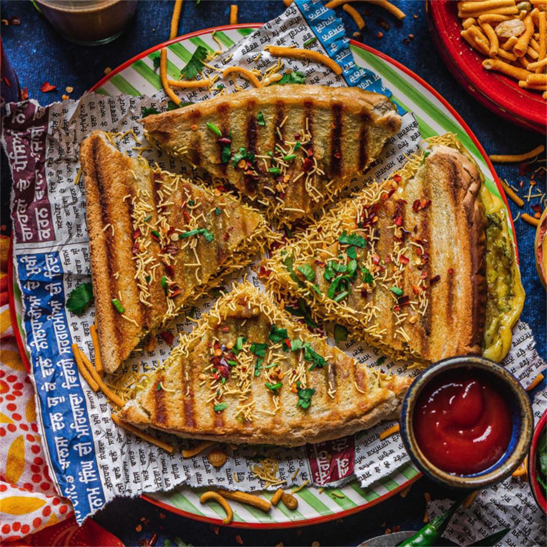 Vegan Mumbai cheese toastie