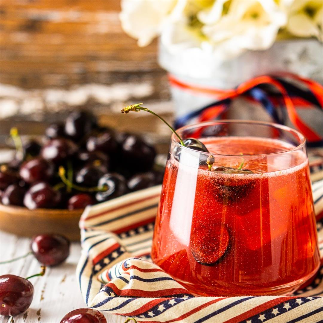 Cherry Firecracker Cocktail (4th of July)