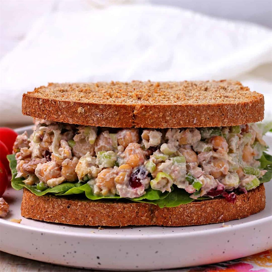 cranberry, walnut, and chickpea salad