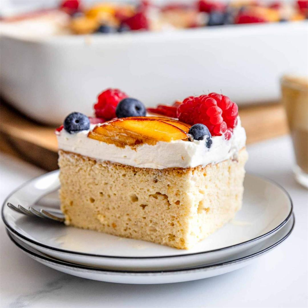 Tres Leches Cake with Fruit