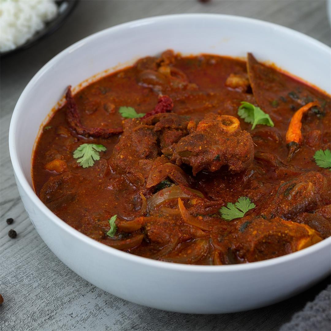 Lamb Vindaloo Recipe (Mutton Vindaloo)