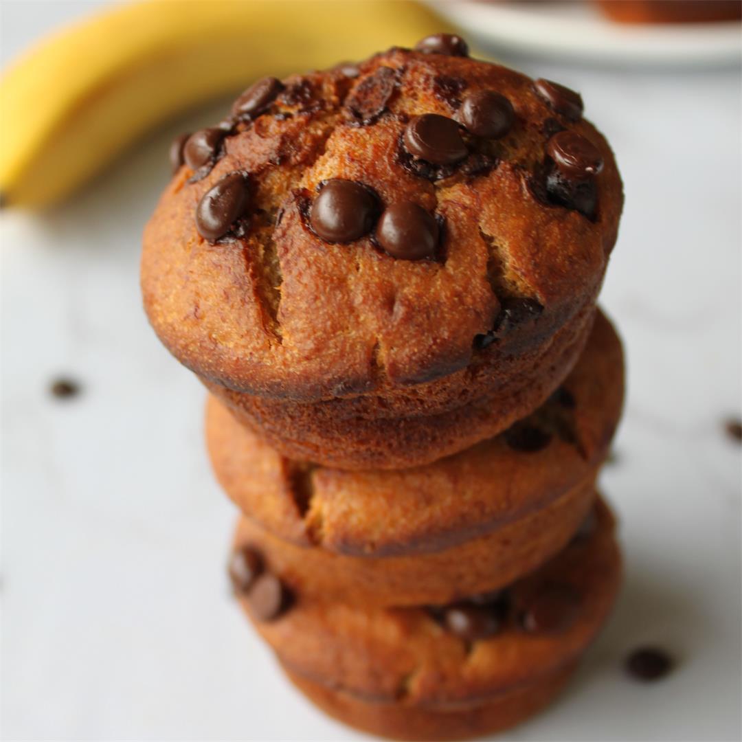Healthy Banana Oats Muffins
