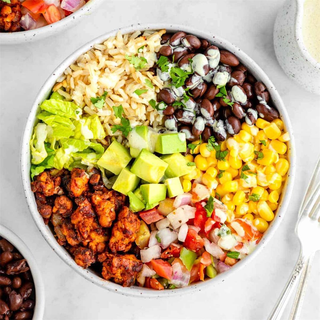 Vegan Tempeh Burrito Bowls