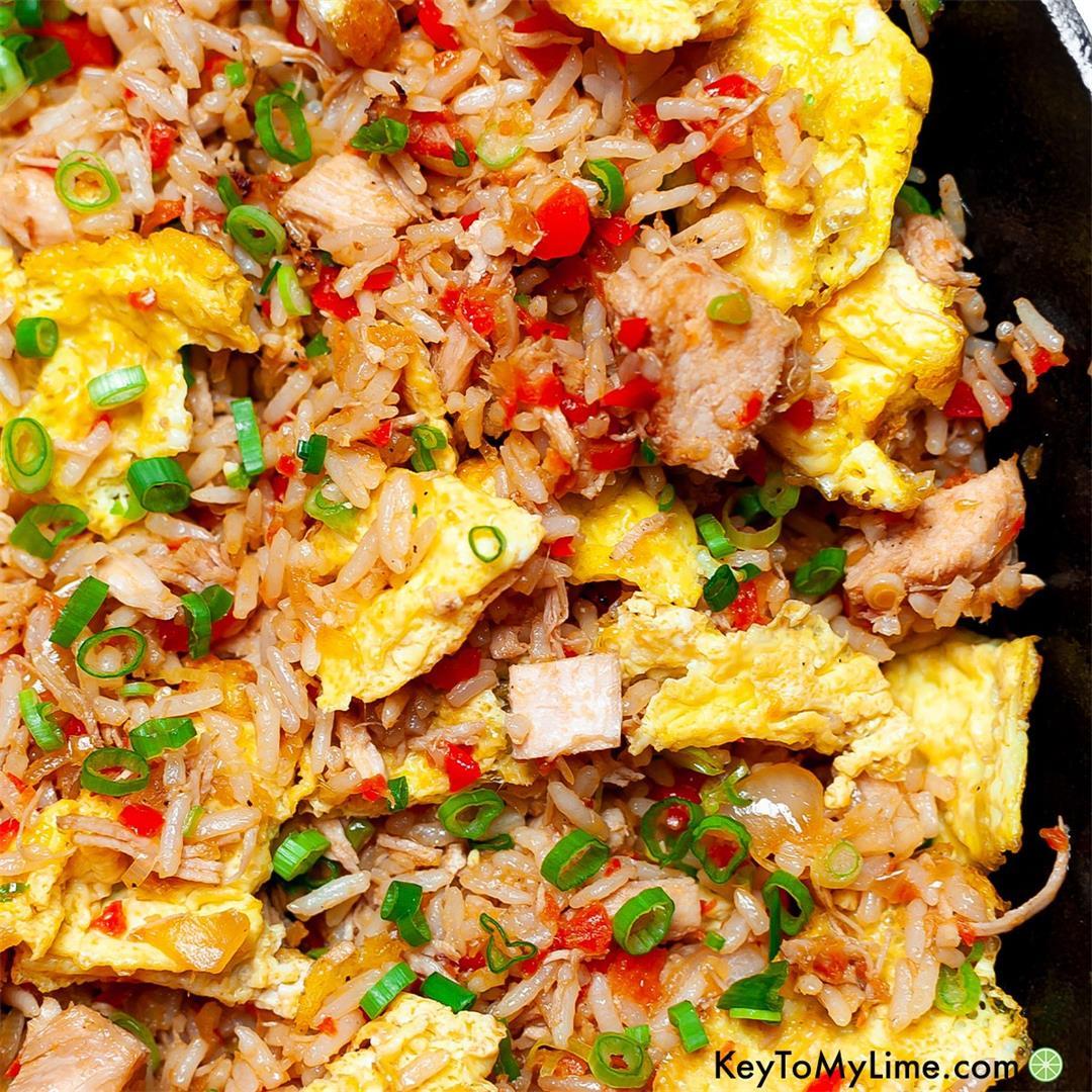 Arroz Chaufa Recipe {Peruvian Fried Rice VIDEO}