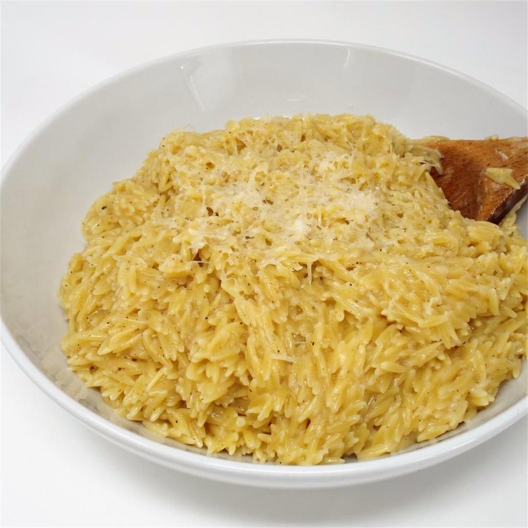 Garlic and Parmesan Orzo