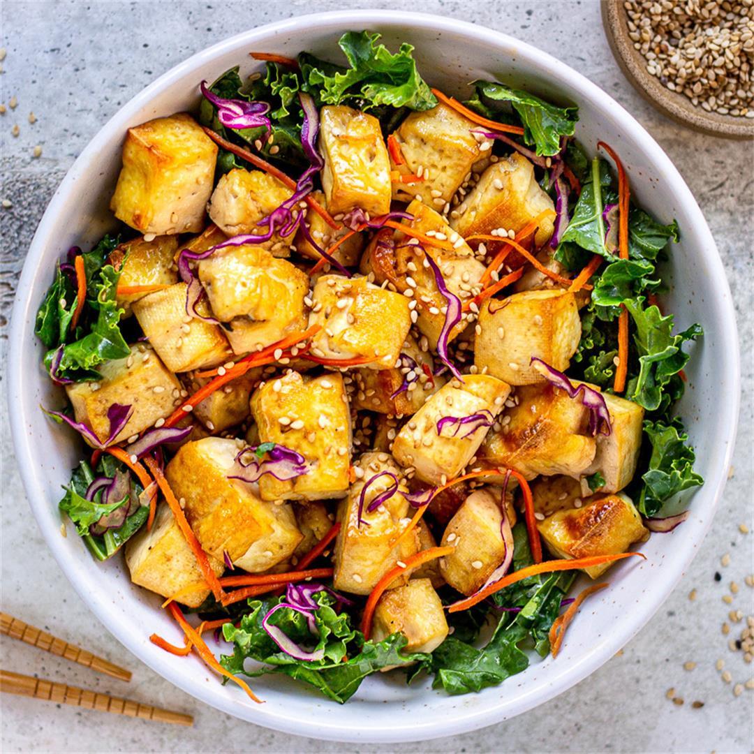 Easy Crispy Tofu (healthy, no-fry)