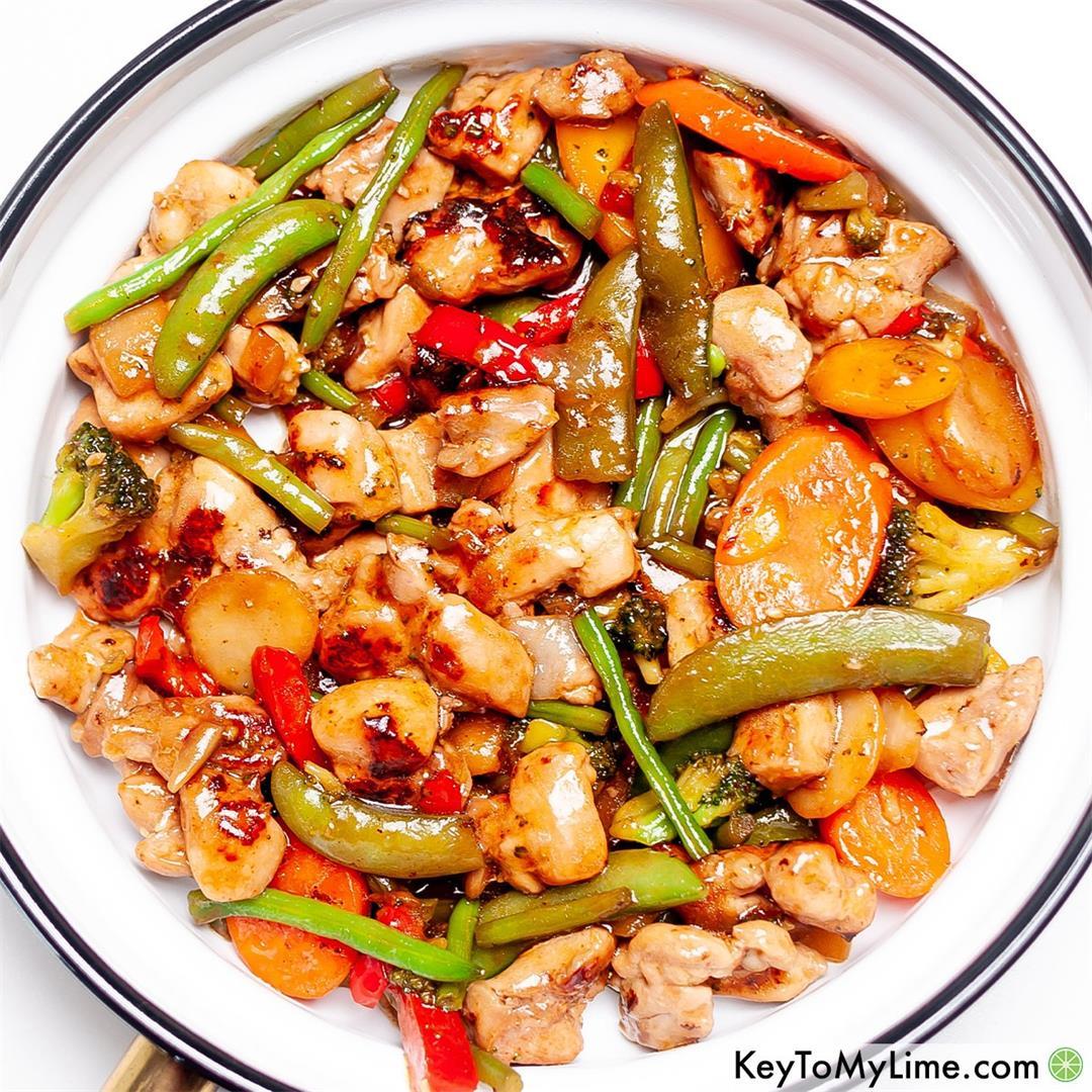 Easy Honey Garlic Chicken Stir Fry {30 Minutes!}