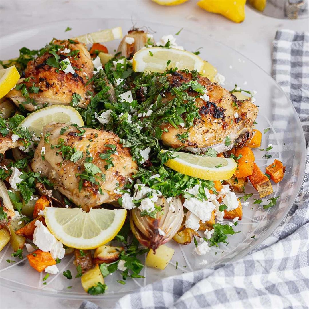 Chicken and Potatoes with Shallots & Lemon