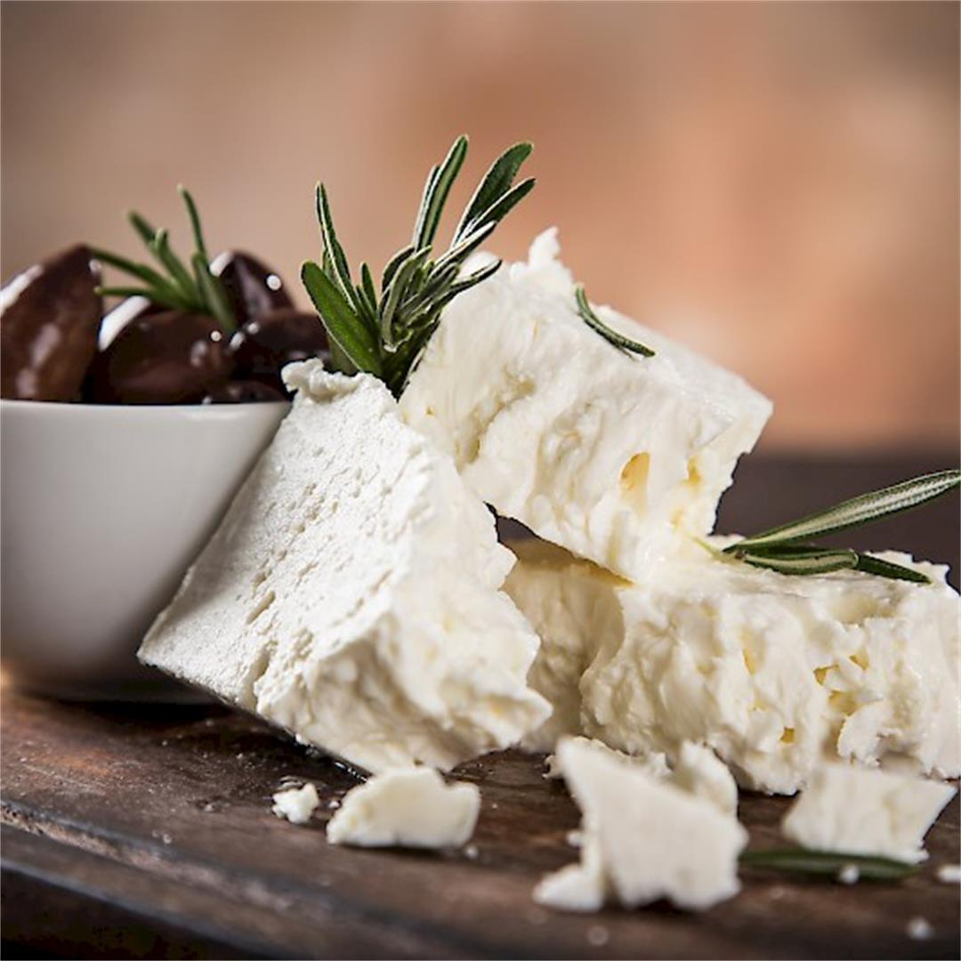 """Feta is a Greek word that means """"slice"""". Feta a tangy, salted c"""