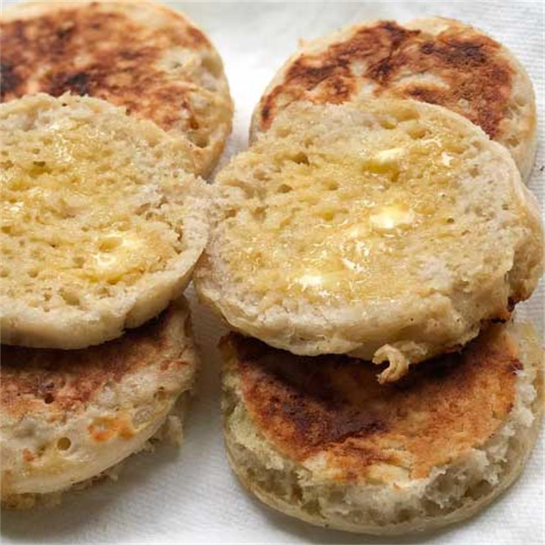 Amazing Sourdough English Muffins