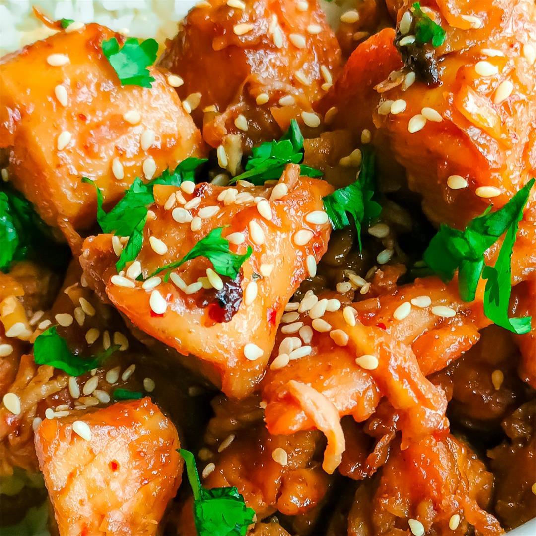 Easy healthy sesame chicken stir fry