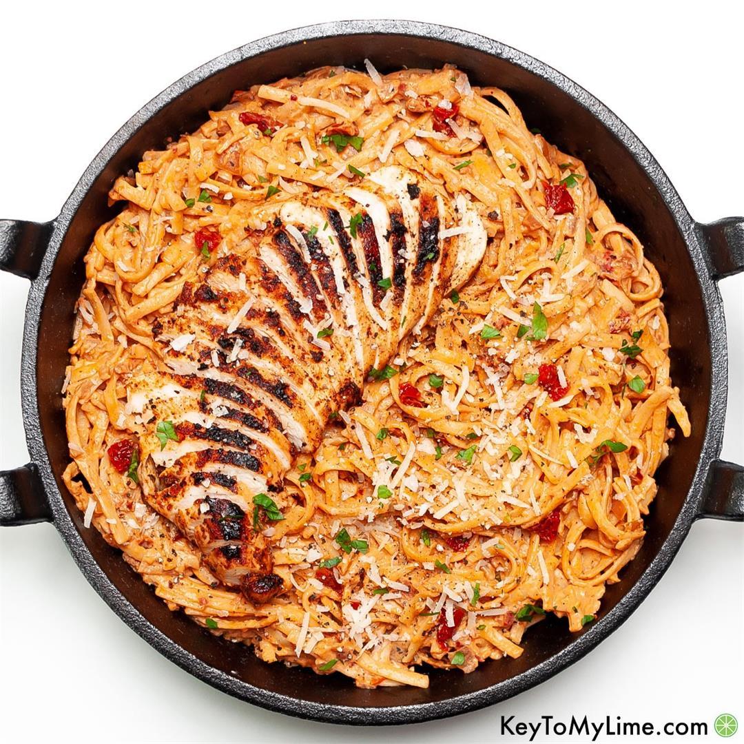 Creamy Spicy Chicken Pasta {25 Minutes}