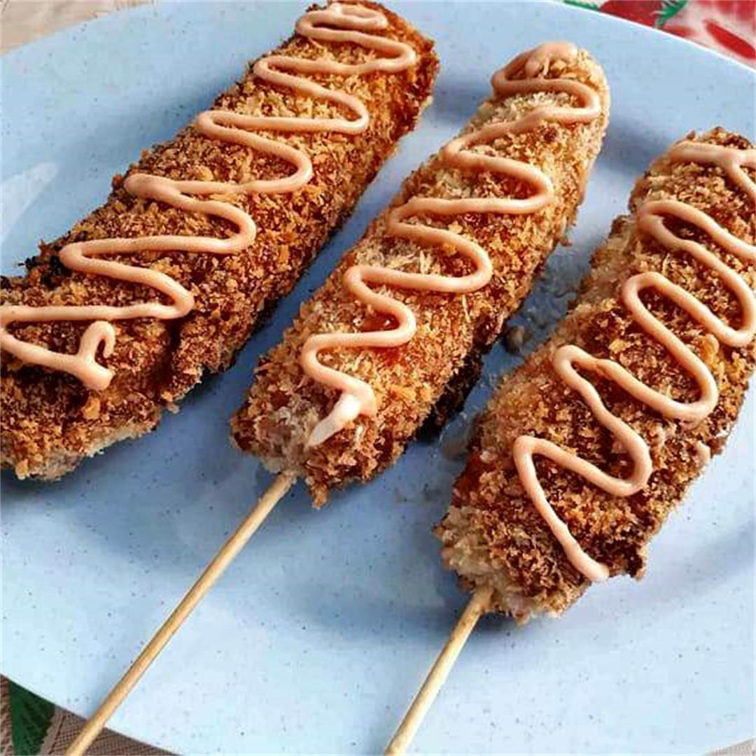 Korean Mozzarella Corn Dog
