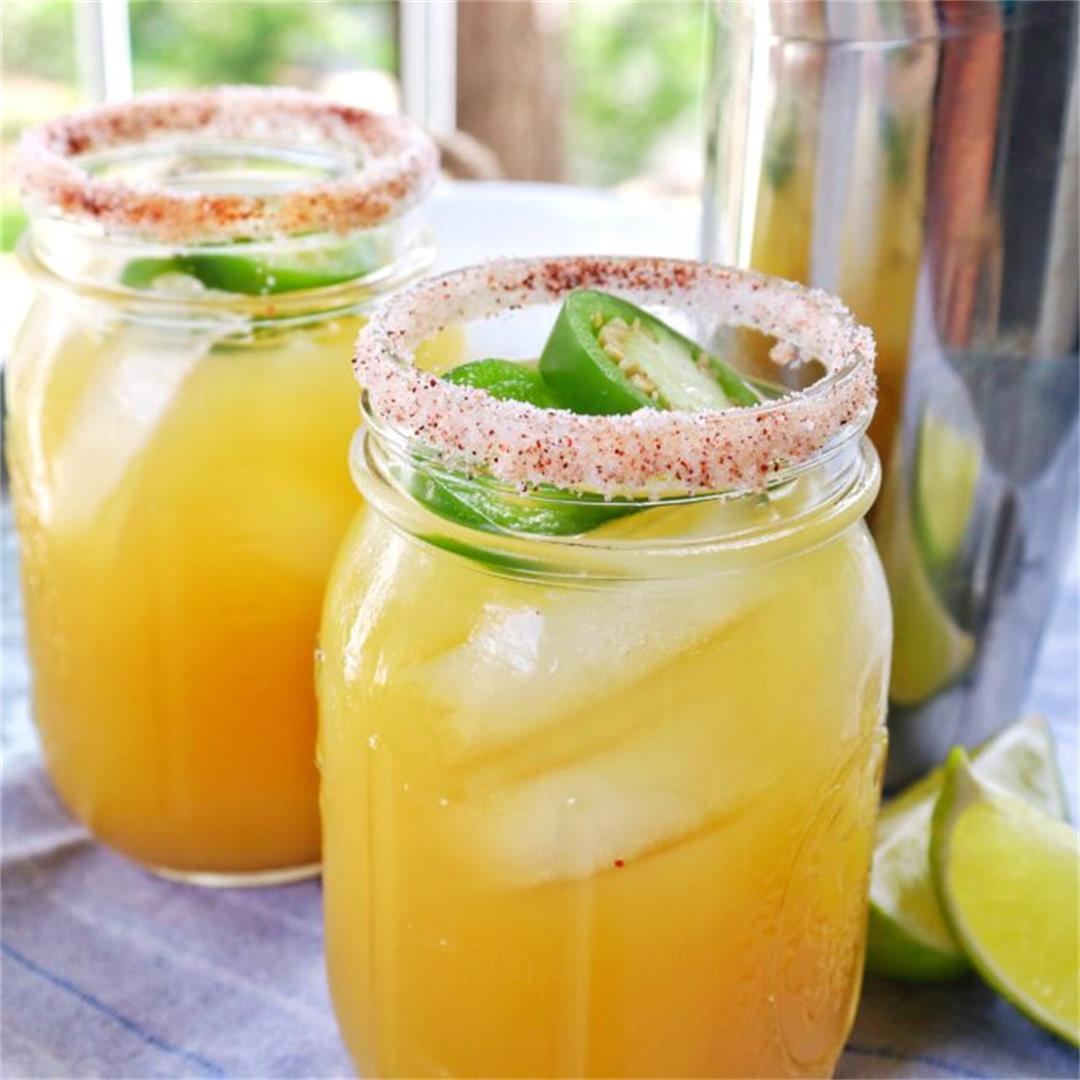 Smoky Sweet Pineapple Margaritas