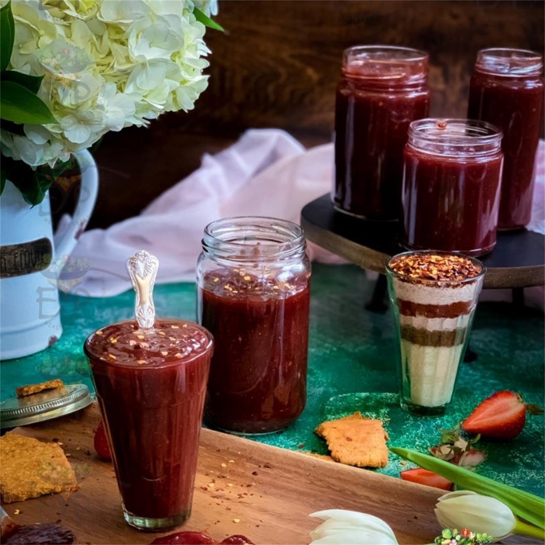 Strawberry Ginger Chutney:  Sweet Sour and Spicy