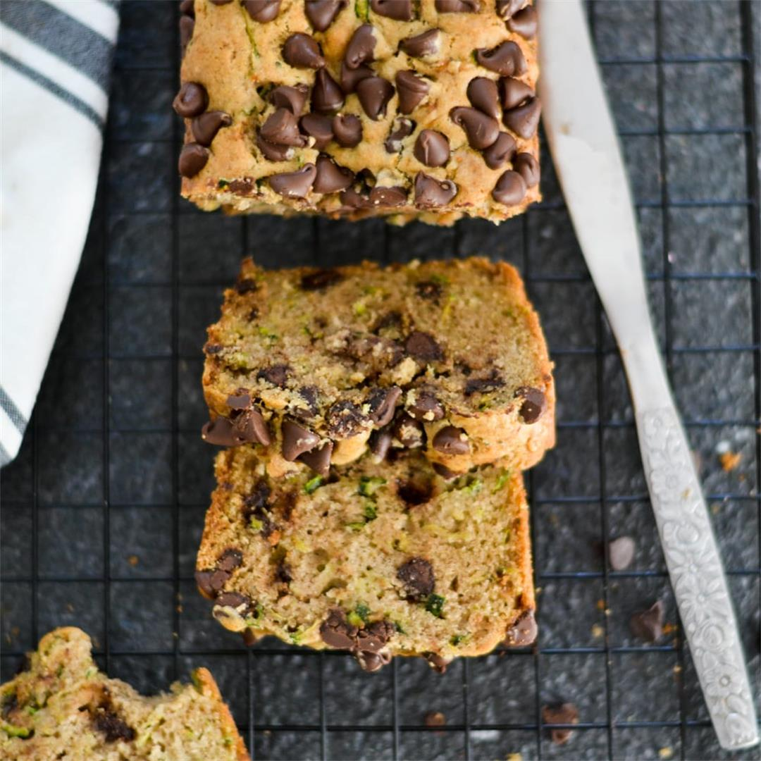 Easy Zucchini Bread with Chocolate Chips