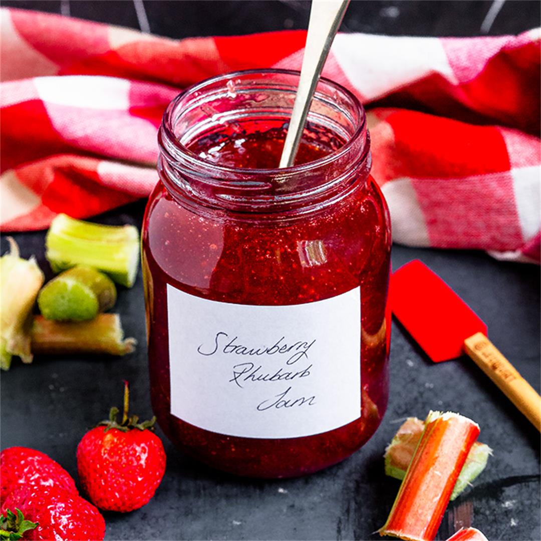 Strawberry Rhubarb Jam {Small Batch}