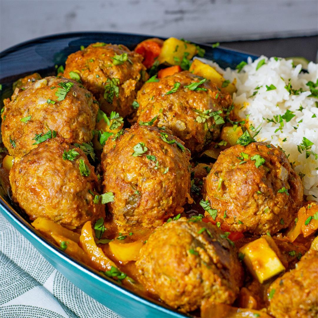 Lamb Vindaloo Meatballs