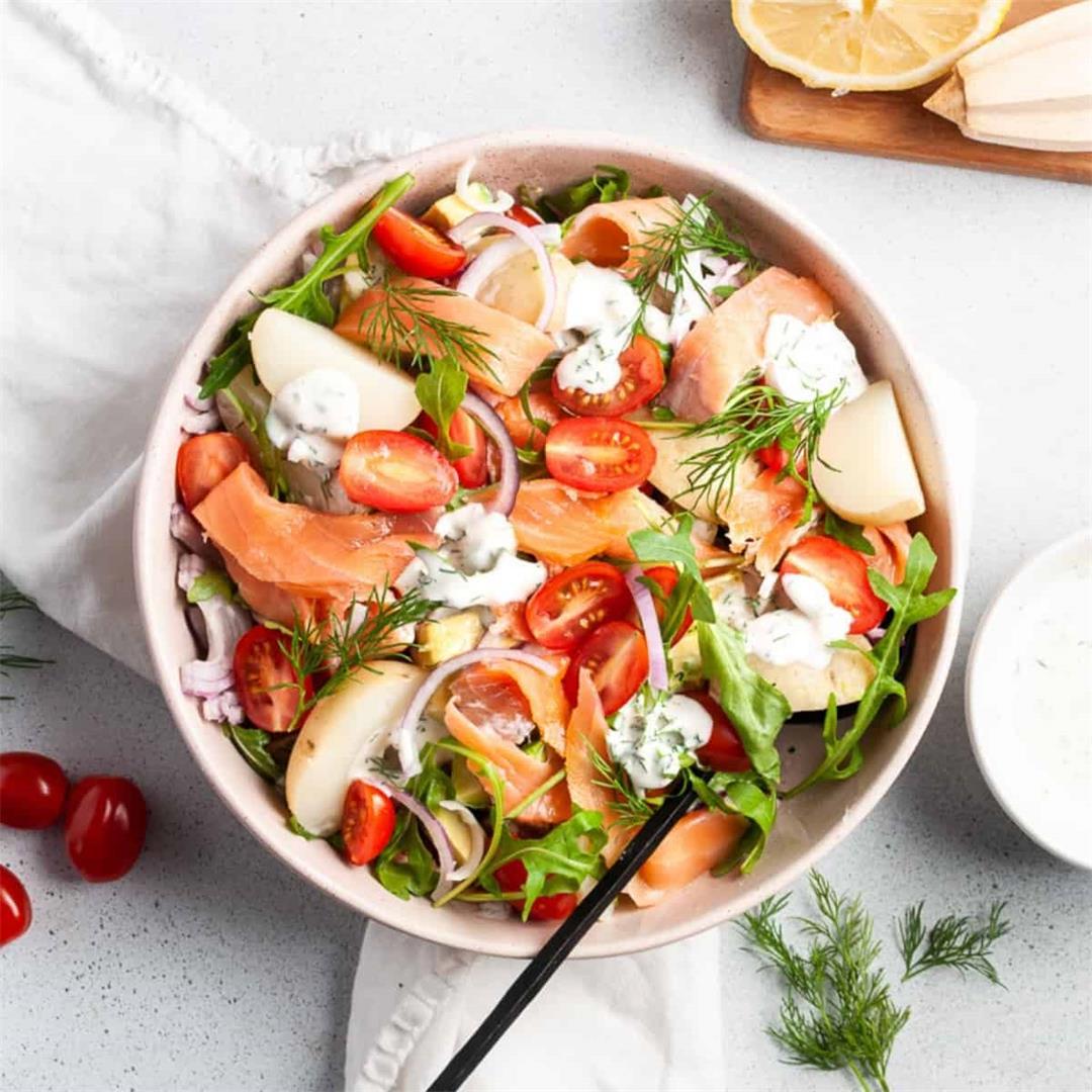 Smoked Salmon and Tomato Salad