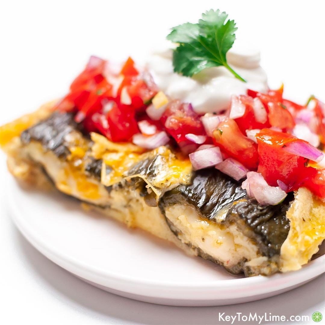 BEST Chile Relleno Casserole Recipe {VIDEO}