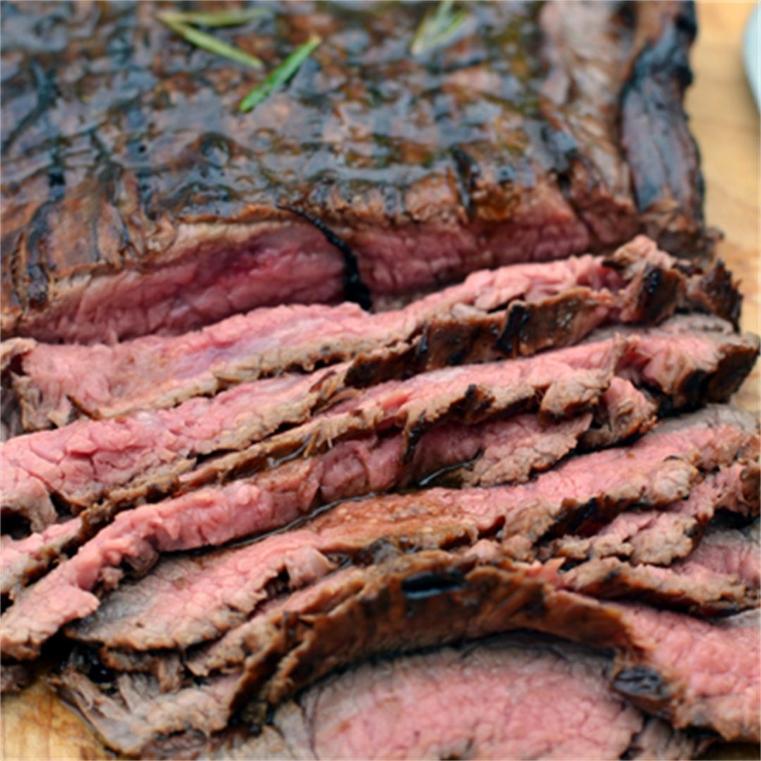 Marinated Flank Steak on a Weber Grill