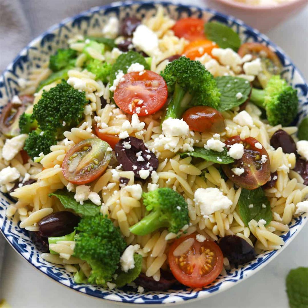 Cold Orzo Pasta Salad